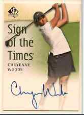CHEYENNE WOODS 2013-14 SP AUTHENTIC GOLF SIGN OF THE TIMES ON CARD AUTO