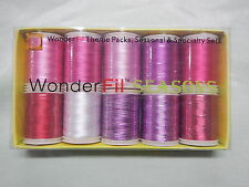 Machine Embroidery Wonderfil Thread (Kisses) Pkt 10 Reels