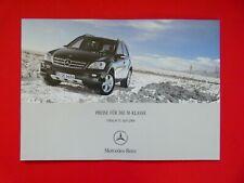Prospekt / Preisliste Mercedes W164 M-Klasse  04/06
