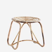Low Round Bamboo Stool by Madam Stoltz