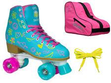 New! Epic Splash High-Top Indoor Outdoor Quad Roller Skate 3 Pc. Bundle Ladies 4