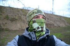 Army Scarf Face Mask Green camouflage in skulls camo