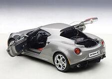 Autoart ALFA ROMEO 4C DARK GREY Composite Model in 1/18 Scale. New! In Stock!