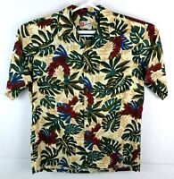 Hilo Hattie Aloha Shirt Mens Size Large Floral Tropical Hawaiian 100% Rayon