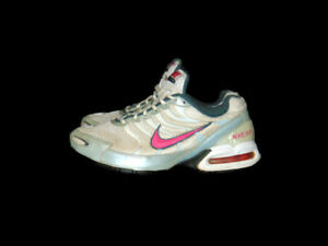 Nike Sneakers White Pink Gray Mesh Leather Air Max Torch 4 Running Womens 8.5