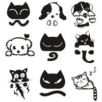 Cute Cat Dog Waterproof Switch Sticker DIY Removable Wall Decals Home Decor Toys
