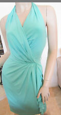 Auth BLUMARINE Seafoam Green Cocktail Party Dress, Size 10