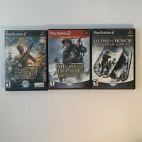 Playstation 2 Medal of Honor game bundle Frontline, European Assault, Rising Sun