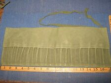 WASHED VINTAGE EX WD /| CANVAS TOOL KIT ROLL FITS MK1 LAND ROVER & BRITISH AFV