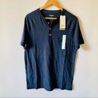 Goodfellow & Co™ Men's Short Sleeve Henley Shirt - Xavier Navy - New With Tags