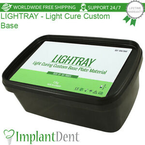 Dental LighTray Light Cured Custom Base Material, 50pcs Pink Tray Sheets, 1.5Kg