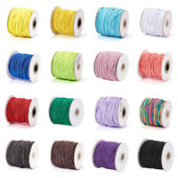 1 Roll Round Elastic Cords Rubber Inside Jewellery Beading Threads 1mm 1.5mm 2mm