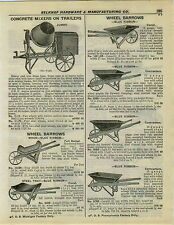1932 PAPER AD Jumbo Concrete Mixers Pull Behind Trailer Heavy Cast Iron