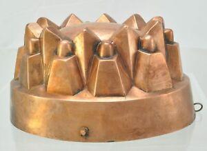 Antique Copper Castle Form Pudding Food Mold 19th Century