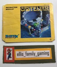 Castelian Nintendo NES Instruction Manual Only Ships Fast