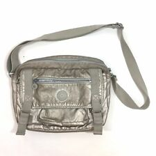 NWT Kipling Gracy Platinum Gold Metallic Handbag HB6254 No Gorilla