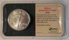 Coin Liberty 2003 Silver American Eagle 1 Oz. Fine Silver One Dollar Coin New