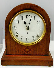 Large Antique AMERICAN 19th C Wooden  SETH THOMAS Dome Shelf Mantle CLOCK