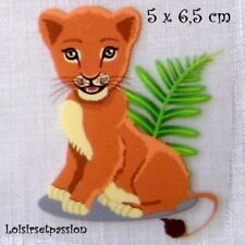 Patch Applique, Dessin Transfert, ANIMAL LIONNE, 5 x 6,5 cm, sérigraphie - T073