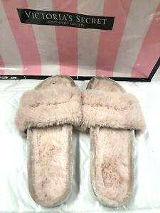 Victorias Secret PINK Cozy Soft Faux Fur Slides Light Pink Small (5/6)