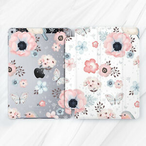 Girl Watercolor Flower Butterfly Case For iPad 10.2 Air 3 Pro 9.7 10.5 12.9 Mini