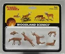 WOODLAND SCENICS O SCALE WHITE-TAIL DEER (6) | BN | 2738