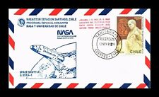 DR JIM STAMPS SPACE SHUTTLE OSTA 1 NASA CHILE AIRMAIL COVER