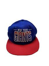 New Era/ NFL New York Giants Hat Cap Red White & Blue Medium / Large Snapback