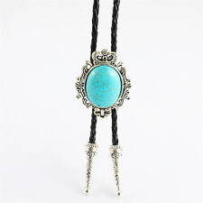 Western Mens Turquoise Leather rope Bolo Neck Tie Wholesale jewelry