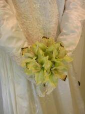 Vintage 5 Pc. Wedding Gown Ensemble-Slip Caplet & 2 Veils. 1980 Pearl Lace