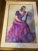 """Frank Stanley Herring """"A Female Portrait"""" Watercolor Painting - Signed/Framed"""