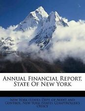 NEW Annual Financial Report, State Of New York