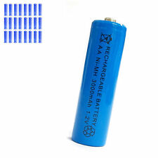 28 pcs AA 2A 3000mAh 1.2V Ni-MH rechargeable battery Solar Light MP3 Toy Blue