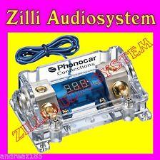Phonocar 04490 Portafusibile con voltmetro per fusibile ANL Nuovo in/out 50 mmq.