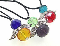 Multi Coloured Crystal Guardian Angel of Light Pendant