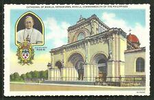 Manila Pope Pius XI Intramuros Cathedral Philippines 1936