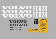 Volvo ECR28 Aufkleber Bagger Komplettset mit Sicherheit Warnung