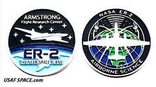 Armstrong NASA FLIGHT RESEARCH - ER-2 - NEAR SPACE PLANE ORIGINAL COIN-MEDALLION