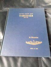 USS THRESHER SSN-593 1963 In Memoriam CRUISE BOOK Submarine