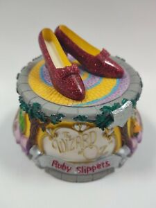 San Francisco Music Box Co. Wizard Of Oz Ruby Slippers 2001 Over The Rainbow