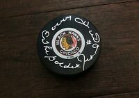Bobby Hull Chicago Blackhawks Signed Autographed Hockey Puck Golden Jet JSA COA