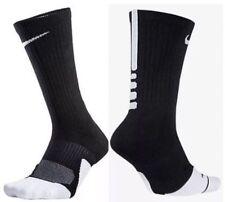 (SX5593-013) NWT Nike Elite Cushioned Crew Socks black/white sz 8-12 Mens $14