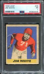 1949 Leaf #39 Jim White PSA 1 New York Giants Notre Dame