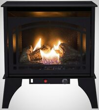 Pleasant Hearth 23.5 In. 20,000 Btu Compact Dual Fuel Gas Stove Overheat Safety