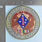 US MARINE CORPS 1st MARINE DIVISION DESERT STORM PATCH with SERVICE MEDAL USMC