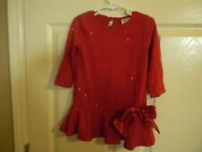 Decorated Originals For Kids Size 2t Red With Sparkles & Bow Nwt