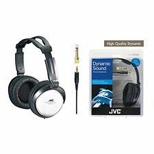 JVC HARX500 Full-Size High Quality Dynamic Sound Stereo Headphones - Silver