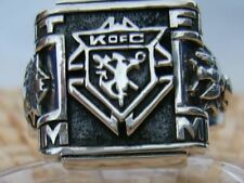Excellent Vintage Knights of Columbus Ring 925 silver