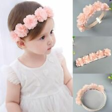 Baby & Toddler Clothing Top Baby Flower Headband Infant Newborn Baby Girl Toddler Christening Photo Prop