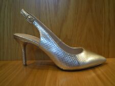 eb354a109 Carvela Ladies Shoes Size 5 Kurt Geiger Slingbacks Champagne Gold Mid HEELS